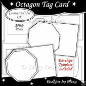 Octagon Tag Card Template