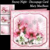 Snowy Night Decoupage Card