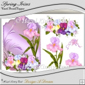 Spring Irises Decoupage Card Front/Topper