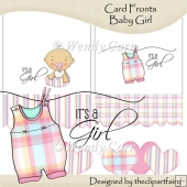 Ready to Print Card Fronts - Baby Girl(Retiring in July)