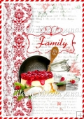 Family Cookbook Backing Background Paper