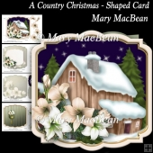 A Country Christmas - Shaped Card