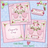 Christmas Mittens - 2 Card Kit