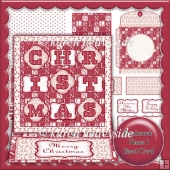 Patchwork Xmas 1 Easel Card