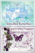 Stenciled Butterfly Card Toppers Set