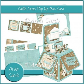 Caffe Latte Pop Up Box Card