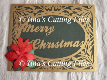Christmas Card Template - with poinsettia detail