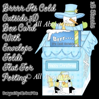 Brrrr Its Cold Outside 3D Box Card