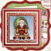 SANTA'S SLEIGH RIDE 7.5 Decoupage & Insert Mini Kit