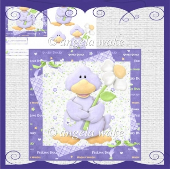 Ducky is quackers over you card with decoupage