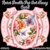 Roses Double Pop Out Fancy Card