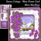 Snow Cottage - Wavy Frame Card