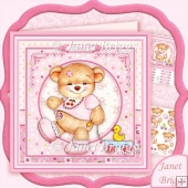 Baby Girl Bear & Duck 8x8 Decoupage Kit
