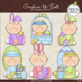 Easter Babies 1 ClipArt Graphic Collection