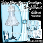 Blue Dressform Envelope Card Front