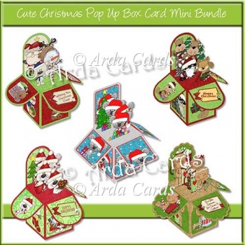 Cute Christmas Pop Up Box Card Mini Bundle
