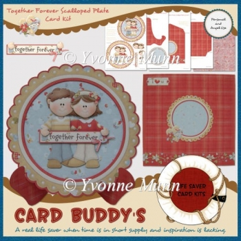 Together Forever Scalloped Plate Card Kit