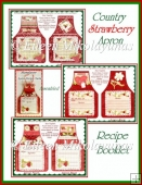 Three Country Quilt Strawberry Apron Recipe Cards Booklet