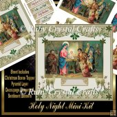 Holy Night Decoupage Mini Kit