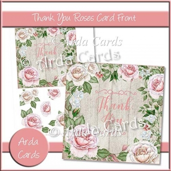 Thank You Roses Card Front