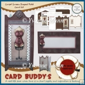 Corset Screen Shaped Fold Card Kit