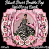 Black Dress Double Pop Out Fancy Card
