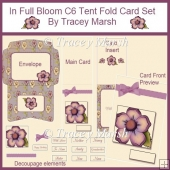 In Full Bloom C6 Tent Fold Card Set