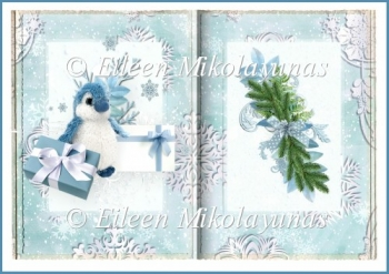 North Pole Christmas Delivery Open Book Insert