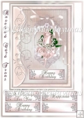 Cottage Chhic Rosebud All Occasion Card Front with Decoupage