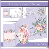 Floral Unicorn Z Fold Card
