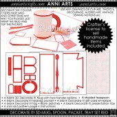 Decorate It! Blank 3D Mug Set:Red