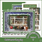 Christmas Shopping Pyramage Easel Card
