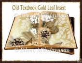 Old Textbooks Gold Leaf Card Insert