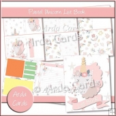 Pastel Unicorn List Book