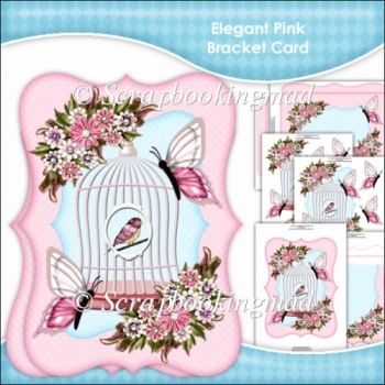 Elegant Pink Bracket Card