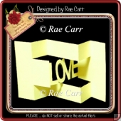 817 Multi Fold Love Shutter Word Card *Multiple MACHINE Formats*