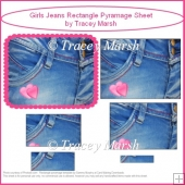 Girls Jeans Rectangle Pyramage Sheet