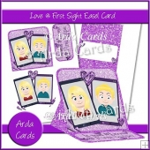 Love @ First Swipe Easel Card