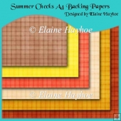 Summer Checks A4 Backing Papers