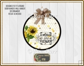 S016 Sunflowers and Mom Mother Printable PNG for Round Sub Blank