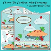 Cherry Pie Cardfront with Decoupage