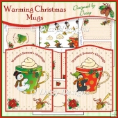 Warming Christmas Mugs - Two Card Kit