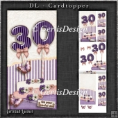 Vintage DL 30th Birthday Topper Cardkit 1294