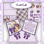Easter basket double easel card