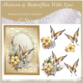 Flowers & Butterflies With Love