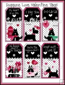 Doggone Love Whimsical Valentine Tags