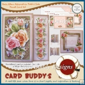 Rosy Glow Assymetric Fold & Side Panel Card Kit