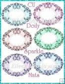 CU Doily Sparkle Mats for Toppers, Greeting Panels, Frames