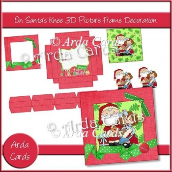 On Santa's Knee 3D Picture Frame Decoration