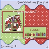 Santa's Workshop Easel Card
